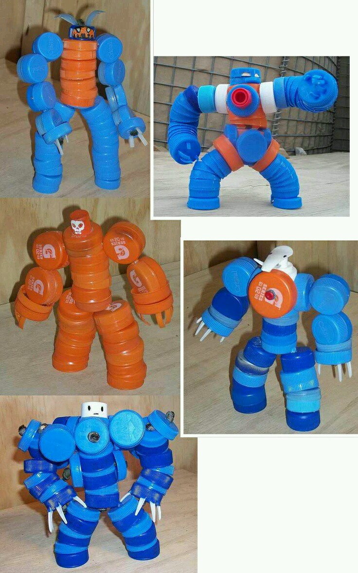 Plastik Kapaklardan Robot Yapımı
