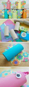 Tuvalet Kağıdı Rulosundan Kelebek Yapımı Resimli Anlatım