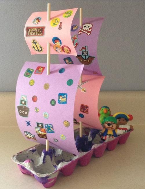 Yumurta Kolisinden Gemi Yapımı