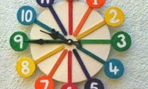 Dondurma Çubuklarından Saat Yapımı