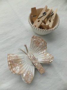 Kağıt Kek Kalıbından Kelebek Yapımı