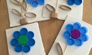 Plastik Kapaktan Çiçek Yapımı