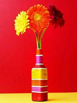 Şişeden Vazo