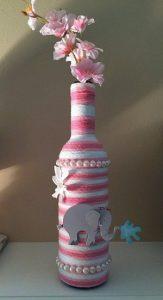 Cam Şişeden Dekoratif Vazo