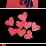 Eva Kağıdından Kalpli Duvar Süsü Yapımı