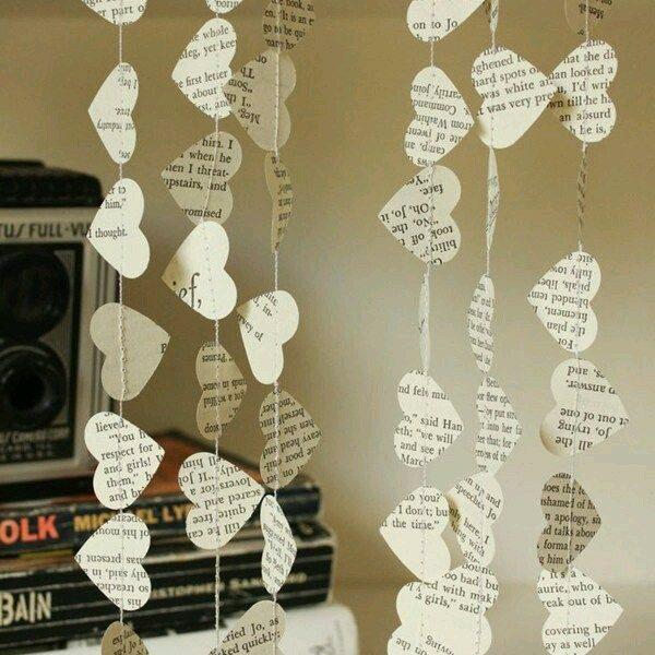 Gazete Kağıdından Kalpli Duvar Süsü Yapımı