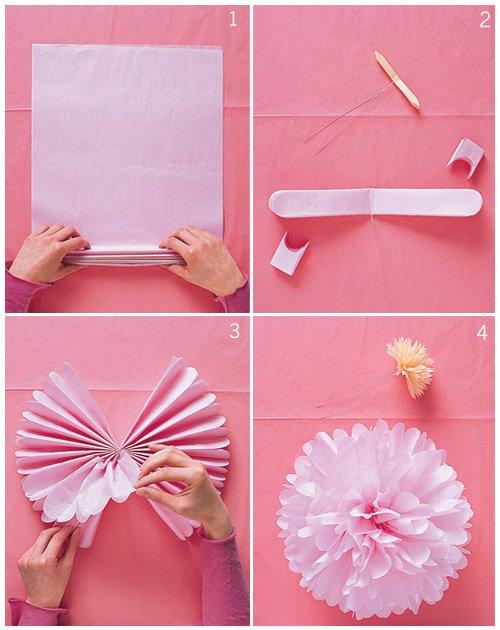 Kağıt Peçeteden Çiçek Yapımı