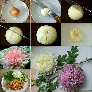 Soğandan Çiçek Yapımı Resimli Anlatım