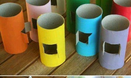 Tuvalet Kağıdı Rulosundan Minyatür Ev Yapımı