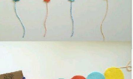 Keçeden Balonlu Süs Yapımı