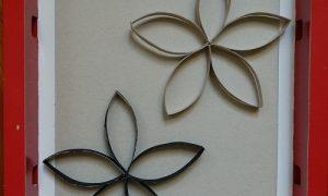Tuvalet Kağıdı Rulosundan Çiçek Yapımı