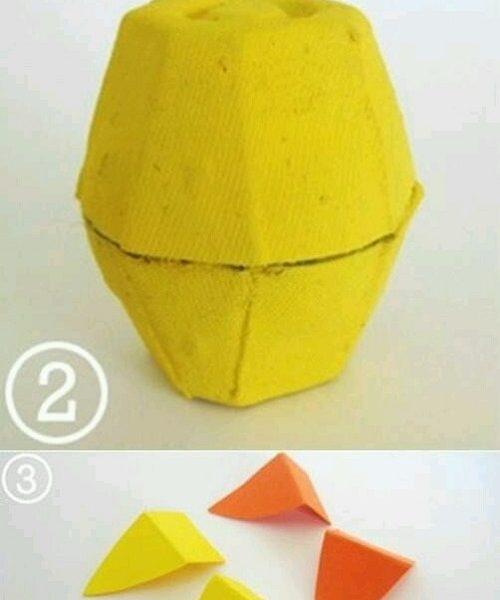 Yumurta Kolisinden Civciv Yapımı