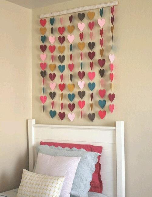 Çocuk Odası için Kalpli Duvar Süsü
