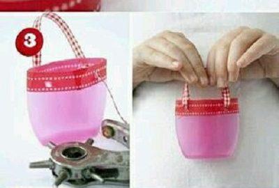 Şampuan Kabından Oyuncak Çanta Yapımı