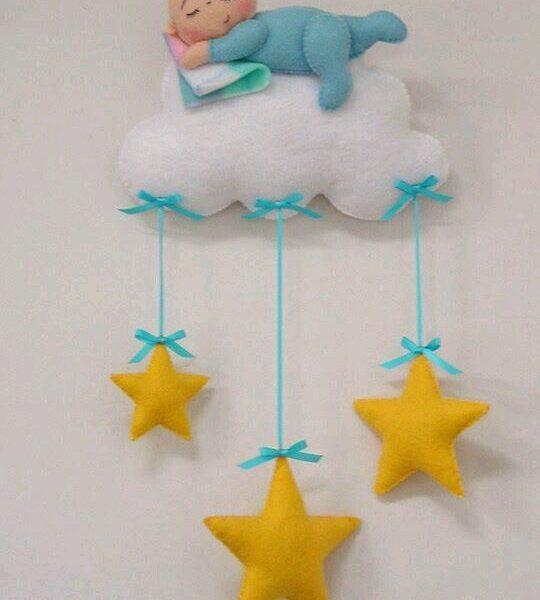 Bebek Odası için Keçe Süs Modelleri-13