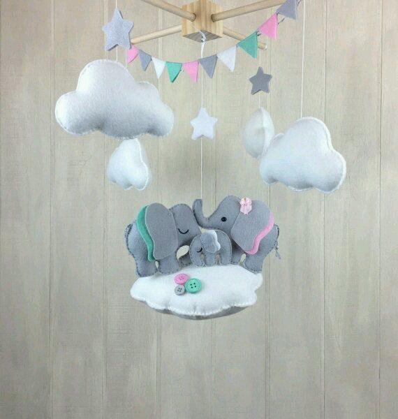 Bebek Odası için Keçe Süs Modelleri-16