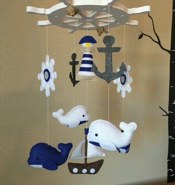 Bebek Odası için Keçe Süs Modelleri-20