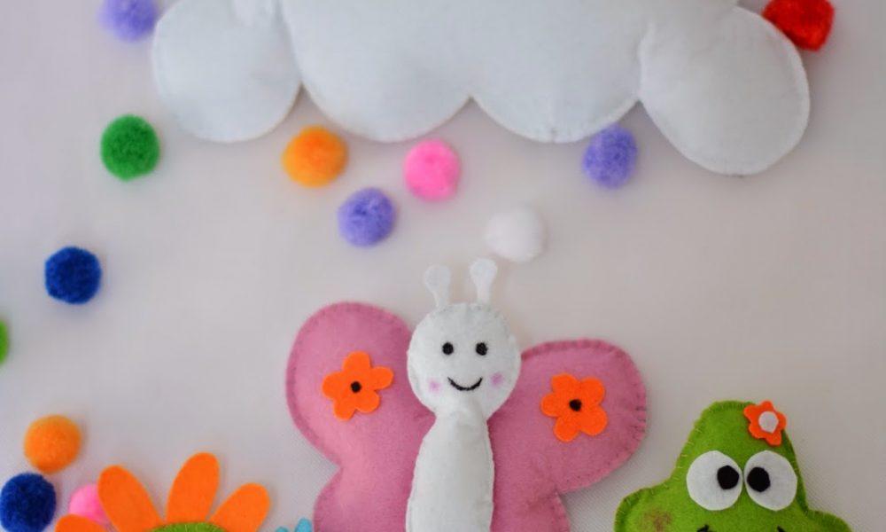 Bebek Odası için Keçe Süs Modelleri-3