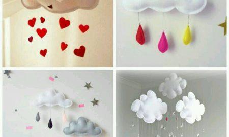 Bebek Odası için Keçe Süs Modelleri