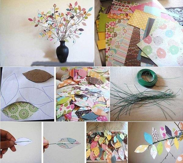 Desenli El İşi Kağıdından Yaprak Yapımı