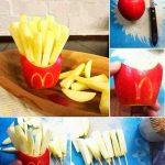 Elmadan Çubuk Patates Yapımı