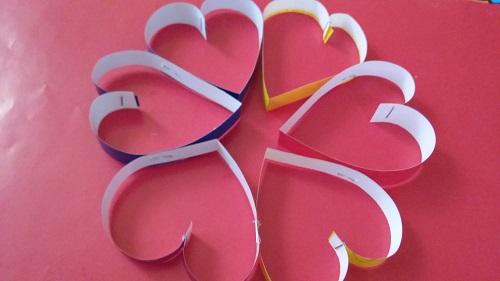 Kağıttan Kalpli Duvar Süsü Yapımı Videolu Anlatım