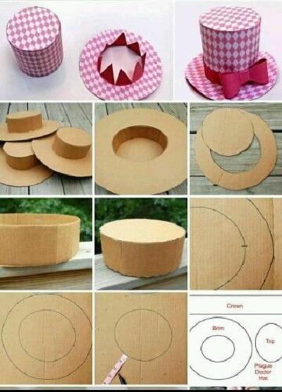 Kartondan Şapka Yapımı Resimli Anlatım