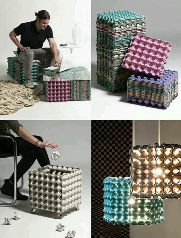 Yumurta Kartonundan Yapılan Dekoratif Ürünler