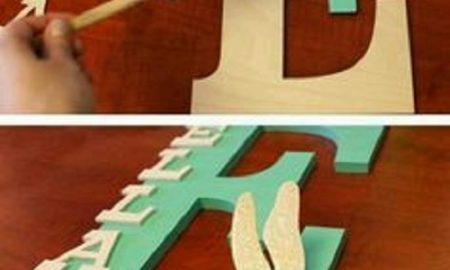 Çocuk Odası için Harfli Süs Yapımı
