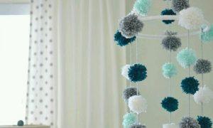 Çocuk Odası için Ponponlu Sarkaç Süs Yapımı