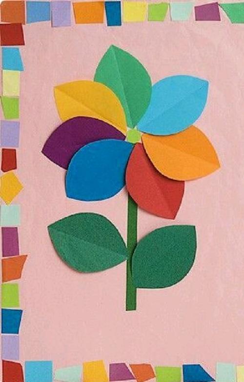 El İşi Kağıdından Çiçekli Pano Yapımı