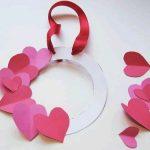 El İşi Kağıdından Kalpli Kapı Süsü Yapımı
