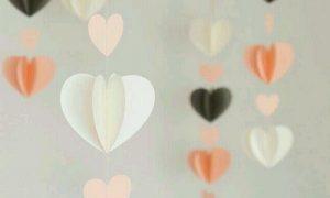 El İşi Kağıdından Kalpli Sarkaç Süs Yapımı