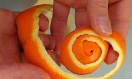 Portakal Kabuğundan Çiçek Yapımı