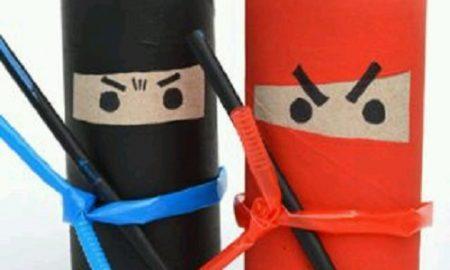 Tuvalet Kağıdı Rulosu ile Ninja Yapımı