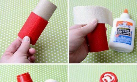 Tuvalet Kağıdı Rulosundan Noel Baba Yapımı