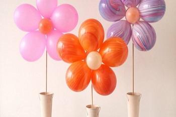 Balondan Çiçek Yapımı