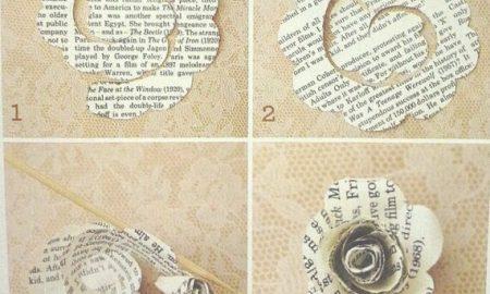Gazete Kağıdından Çiçek Yapımı Resimli Anlatım