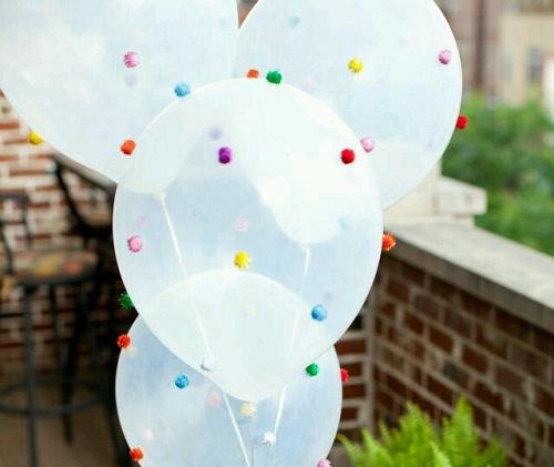 Keçe Topları ile Balon Süsleme