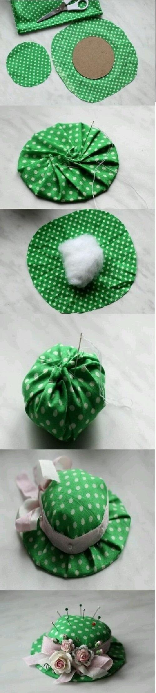 Kumaştan Şapka İğnelik Yapımı
