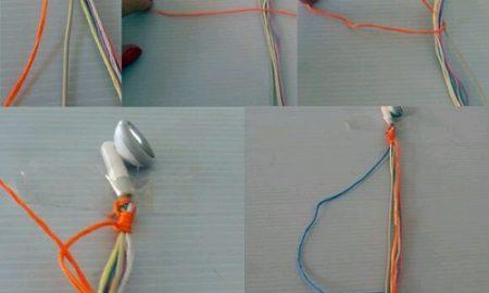 İple Telefon Kulaklığı Süsleme