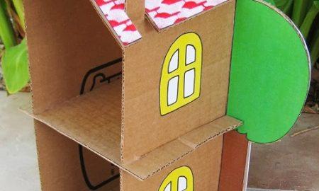 Kartondan Kolay Ev Yapımı