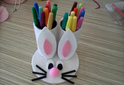 Keçeden Tavşanlı Kalemlik Yapımı