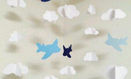 Çocuk Odası için Uçaklı Dekoratif Süs Yapımı