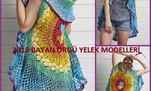 2018 Bayan Örgü Yelek Modelleri