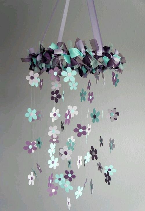 Evde Çiçekli Sarkaç Süs Yapımı