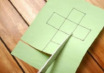 Kağıttan Küp Yapımı Resimli Anlatım-1