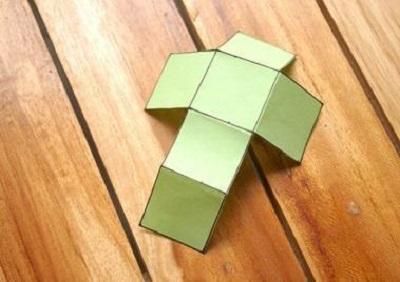 Kağıttan Küp Yapımı Resimli Anlatım-2