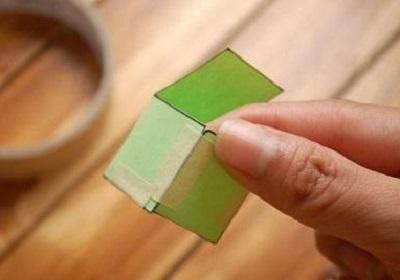 Kağıttan Küp Yapımı Resimli Anlatım-3