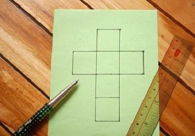 Kağıttan Küp Yapımı Resimli Anlatım